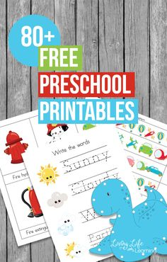 Have some fun with your preschooler and learn at the same time with these educational free preschool printables in various seasonal themes.