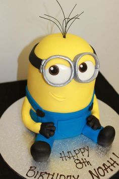 Minion Birthday Cake by Frangipani's Cakes, Reynella, South Australia. You'll find this Cake Appreciation Society Member in our Directory at www.cakeappreciationsociety.com