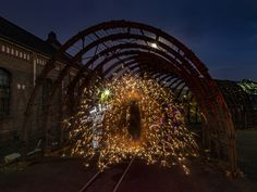 https://flic.kr/p/zfsb7Y | The gate | Lightpainting in one single exposure - no layers - no photoshop - only light and fireworks © 2015 by www.potamilux.de - taken with OM-D E-M5 OLYMPUS DIGITAL CAMERA