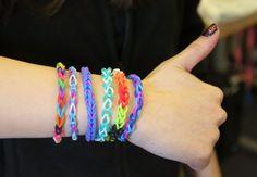 Completed loom bracelets!