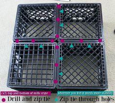 shoe storage milk crates