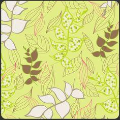 Art Gallery Fabrics - Light Organic Leaves