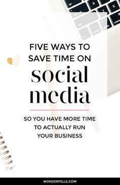 Social media can be a time suck, but if you're a blogger or online business owner, these 5 tips can help you save time and focus on other aspects of your business!