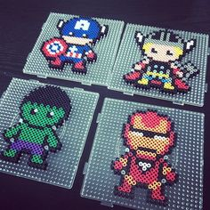 Marvel Avengers perler beads by celeste8051