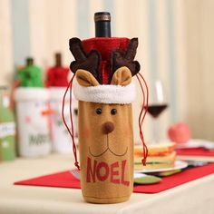 Christmas Wine Bottle Cover  Decorations - J-1