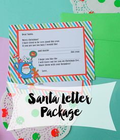Santa Letter Package - Letter To Santa, Letter From Santa, Christmas Wish List, Nice List, Personalized Christmas Letter, Gift for Kids