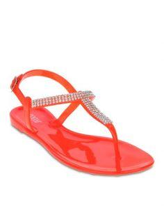 Zoom Vanessa Flat Sandals Orange