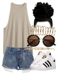 """6/14/16"" by nasirkami ❤ liked on Polyvore featuring adidas, Givenchy and H&M"