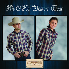 His & Her shirts from Roper®.  http://www.westernshirts.com/matching-western-shirts
