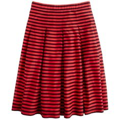 J.Crew Voile skirt in stripe ($128) found on Polyvore