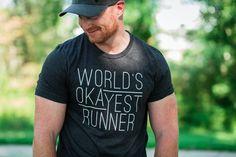 T-shirt for Runners - World's Okayest Runner - Running Tee