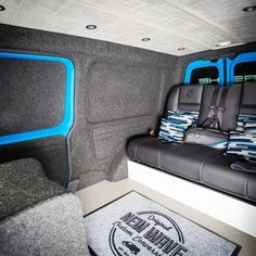Transporter Lining Conversions - New Wave Custom Conversions T4 Camper Interior Ideas, Motorhome Interior, Van Interior, Transporter Van, Volkswagen Transporter, Land Rover Defender, General Motors, Trailers, Caddy Van
