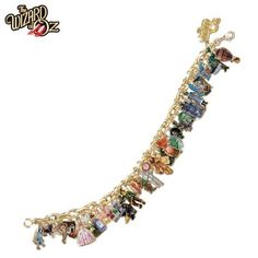 Wizard Of Oz Ultimate Charm Bracelet: Engraved Wizard Of Oz Jewelry Collectible