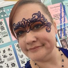 Paint Anything  Fancy swirly mask masquerade  Face painting face paint makeup art teen adult design  Artist - Marie Sulcoski