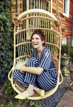 Happy at Home - Lake Bell's Brooklyn Backyard - Lonny