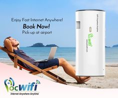 Rent a Pocket Wifi  Pick-up at airports in AU/NZ For only $7.99 / day - Fast Internet - Internet in over 100 Countries - Connect up to 5 devices - Lasts up to 12 hours - Works as a Powerbank Visit our websites:  www.pocwifi.com.au  www.pocwifi.co.nz