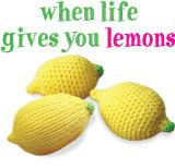 When life gives you lemons - crochet or knit one to unwind! Free patterns on the Craft Yarn Council!