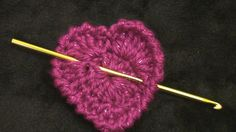 Simple Crochet Heart - video tutorials for left and right handed people - has a chart, too, so I might learn some of those symbols, too, if I do this.