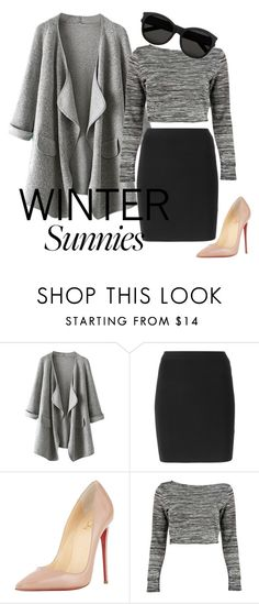 """""""Untitled #1020"""" by sky-colette ❤ liked on Polyvore featuring T By Alexander Wang, Christian Louboutin, Boohoo and Yves Saint Laurent"""