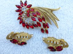 Kramer Brooch and earring set made of brushed by MeyankeeGliterz