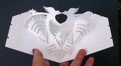 birds kirigami card