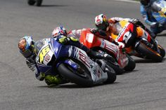 Valentino Rossi leads the pack !