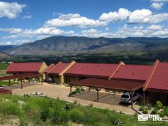 Tile Red Interlock Tile roof from Hester Creek Winery, Oliver, BC. installed by Interlock Industries (BC) Ltd.  1-866-733-5811