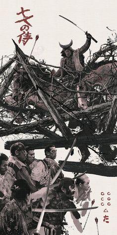 Seven Samurai (1954) [750x1500] : MoviePosterPorn