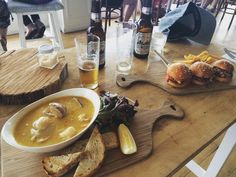 Amazing seafood chowder and pork sliders #simonswaterfront #whatsforlunch #warrnambool #warrnamboolwaterfront #holiday by maggi_e_