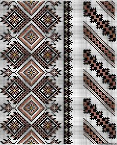 Cross stitching , Etamin and crafts: Traditional cross stitch Pattern Cross Stitch Borders, Cross Stitch Designs, Cross Stitching, Cross Stitch Patterns, Embroidery Motifs, Cross Stitch Embroidery, Embroidery Designs, Loom Beading, Beading Patterns