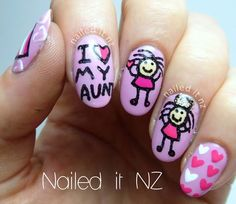 Nailed It NZ: I love my Aunt nails! http://nailedit1.blogspot.co.nz/2013/04/i-love-my-aunt-nails.html