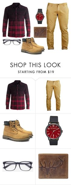 """Popular Country Boy"" by sane-or-insane ❤ liked on Polyvore featuring DC Shoes, Caterpillar, Ted Baker, FOSSIL, country, men's fashion and menswear"