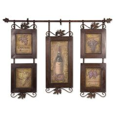 Show Your Love For Contemporary Art And Improve Your Homeu0027s Decor With This  U0027Hanging Wine