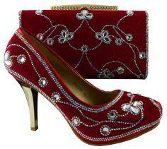 Beautiful Elegant Italian Soft Leather Jewel-Accent Women s Pumps w Matching  Clutch 57045fa70db3