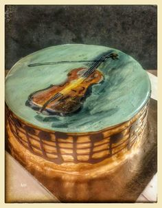 Paint  violin cake