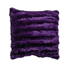 Necessities Brand Cushion Faux Fur Purple