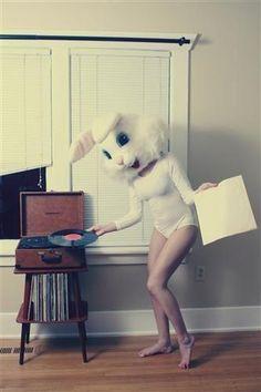 bunny head girl