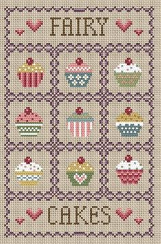 Fairy Cakes Cross Stitch Kit