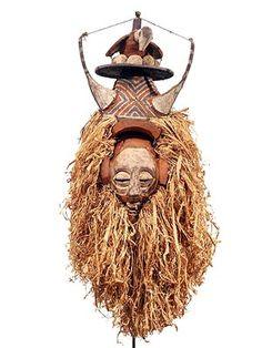 Yaka Mask 25, Dem.Rep of Congo; bird with eggs