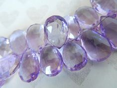 Rose de France Pink AMETHYST Pear Briolette / Luxe AAA, 2-20 pcs, 9-11 mm Beads / Faceted LILAC Pink / february birthstone 911 solo tr Soft Purple, Green And Purple, Lilac, Pink Amethyst, Amethyst Quartz, February Baby, Color Quartz, Birthstones, Crystals