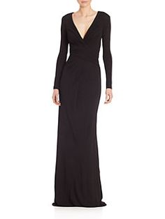 Badgley Mischka - Draped Jersey Gown
