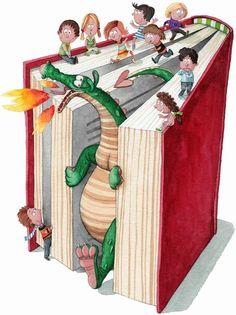 O Lobo Leitor: Contos de fadas, crianças e dragões