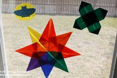 origami with kids suncatcher: shamrock, rainbow star