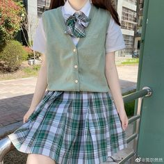 Swaggy Outfits, Cute Casual Outfits, Pretty Outfits, Korean Girl Fashion, Ulzzang Fashion, School Uniform Outfits, School Uniforms, Style Lolita, Kawaii Clothes