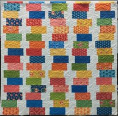 "The ""Shuffle Quilt"" pattern is a great solution for using up those layer cakes you have accumulated and would also put a good dent in the scrap pile if that is what you prefer."