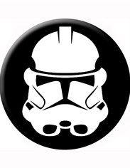 Clone Helmet Star Wars Button
