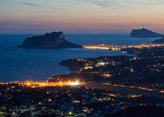 Moraira-Calpe y el Mediterraneo. | Flickr - Photo Sharing! Summer night. Costa Blanca. Spain