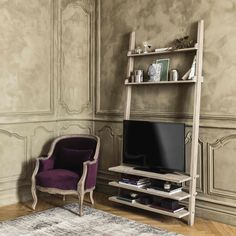 Scaffale porta-TV in legno riciclato L 110 cm | Maisons du Monde