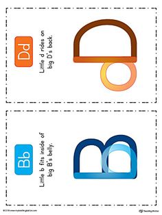 **FREE** b-d Lowercase Letter Reversal Poster Using Uppercase Letters in Color Worksheet.Use the B-D Lowercase Letter Reversal Poster to for help children eliminate their b-d letter confusion.