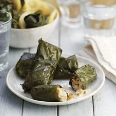 Try our delicious fragrant stuffed vine leaves recipe plus other recipes from Red Online. Plum Tomatoes, Cherry Tomatoes, Food Dishes, Main Dishes, Tomato Vine, Eid Food, Vine Leaves, Greens Recipe, Other Recipes